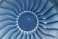 Detail of jet engine Royalty Free Stock Image