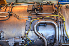 Detail of jet engine Royalty Free Stock Photos