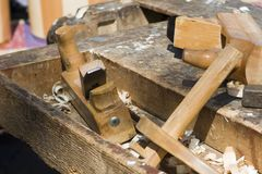 Detail from joiner workroom Stock Photography