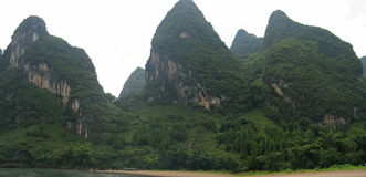 Detail of the jungle mountains. Of the Li Jiang river - Guilin - China - Panorama Royalty Free Stock Images