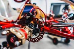 Detail of a kart brake Royalty Free Stock Photo