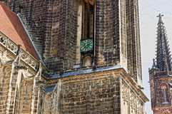 Detail of kathedral in meissen Stock Images