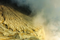Detail from Kavah Ijen volcanic crater ,Indonesia Stock Photography