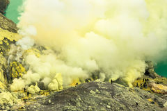 Detail from Kavah Ijen volcanic crater ,Indonesia Stock Image