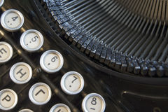 Detail of the keyboard a typewriter old black. Detail of the keyboard of a typewriter old black royalty free stock photo