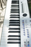 Detail of  keys on music keyboard Stock Images