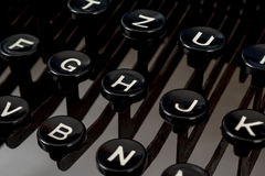 Detail of keys on retro typewritter Royalty Free Stock Image