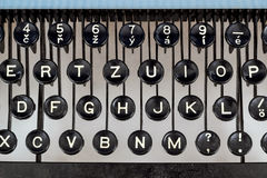 Detail of keys on retro typewritter Royalty Free Stock Photography