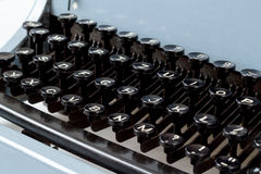 Detail of keys on retro typewritter Stock Image