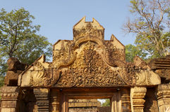 Detail of khmer stone carving Stock Images