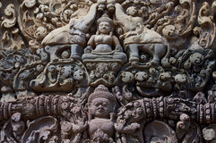 Detail of khmer stone carving Stock Image