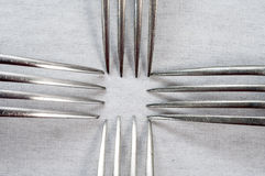Detail of kitchen cutlery Stock Photography