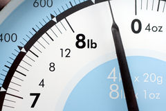 Detail of kitchen scale Royalty Free Stock Images