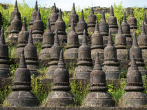 Detail of the Koe-thaung Temple in Mrauk U, Myanmar Stock Image