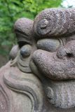 Detail of komainu statue stock photography