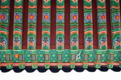 Detail of Korean Traditional Architecture Royalty Free Stock Photos