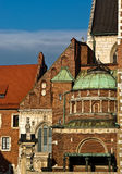 Detail of Krakow Wawel. The most beautiful historical building in the Krakow Royalty Free Stock Images
