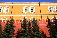 Detail of the Kremlin wall Royalty Free Stock Image
