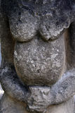 Detail of of kurgan anthropomorphic stone stelae Stock Photography