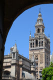 Detail of La Giralda Tower in Sevilla Royalty Free Stock Image