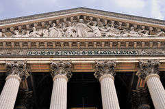 Detail of La Madeleine in Paris Royalty Free Stock Image