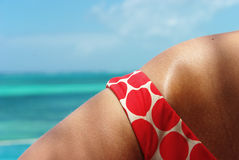 Detail of a lady bikini Stock Images