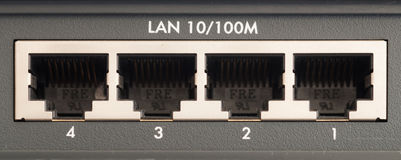 Lan connections Royalty Free Stock Photo