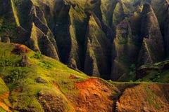 Detail landscape view of Na Pali rugged cliffs, Kauai Stock Photos