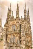 Detail of the lantern of the cathedral of Burgos. stock image