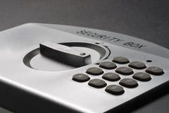 Detail of a laptop safe (landscape). Numeric keypad of a laptop safe Stock Photography
