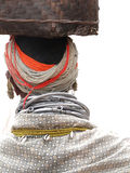 Detail, large necklaces and earrings of a Bonda tribal woman, Stock Images