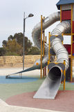 Slide tower at playground Royalty Free Stock Images