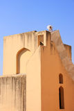 Detail of largest sundial with a person, Jantar Mantar in Jaipur Royalty Free Stock Image
