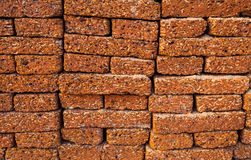 Detail of Laterite Stone Wall, Background Royalty Free Stock Photos