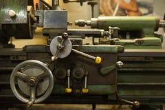 Detail of a lathe machine Stock Photos