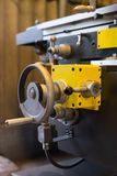 Detail of a lathe machine Royalty Free Stock Image
