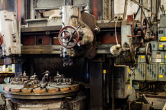 Detail of lathe machine Stock Images