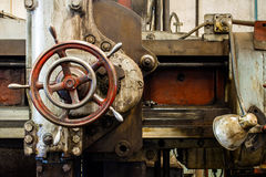 Detail of lathe machine Royalty Free Stock Images