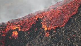 Detail lava flow stock video