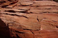 Detail layers of red sandstone, Royalty Free Stock Photos