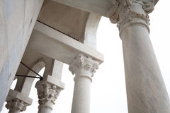 Detail Of Leaning Tower Loggia Pisa Italy Stock Image