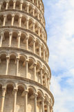 Detail of the leaning tower of Pisa Royalty Free Stock Photography