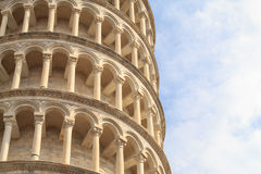 Detail of the leaning tower of Pisa Royalty Free Stock Photos