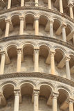 Detail of the leaning tower of Pisa Stock Photography