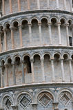 Detail of leaning Tower of Pisa Stock Photo