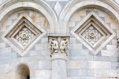Detail from leaning Tower of Pisa stock photography