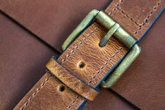 Detail of leather bag Stock Photo