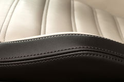 Detail of leather car seat. Stock Image