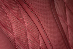 Detail of leather car seat. Royalty Free Stock Photo