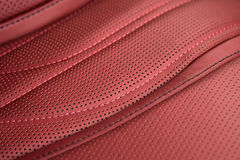 Detail of leather car seat. Royalty Free Stock Photography